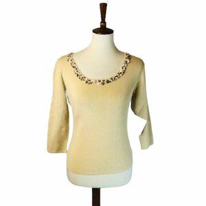 Joseph A Sweater with Shell Neckline